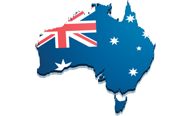 Australia-Melbourne-Flag-Map